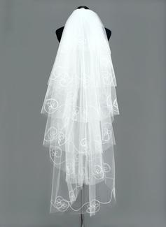 Six-tier Waltz Bridal Veils With Cut Edge (006005384)