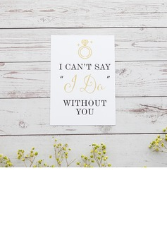 Bridesmaid Gifts - Classic Elegant Paper Wedding Day Card (256176230)