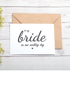 Bride Gifts - Classic Paper Wedding Day Card (255184416)