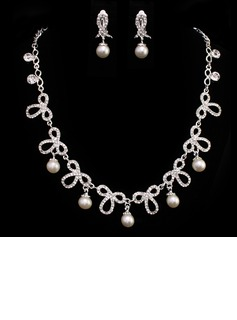 Elegant Alloy With Pearl Ladies' Jewelry Sets (011005486)