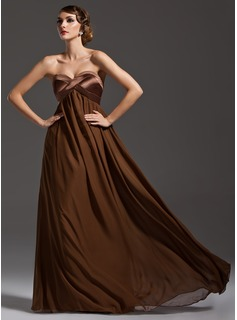 Empire Sweetheart Floor-Length Chiffon Evening Dress With Ruffle (017025920)