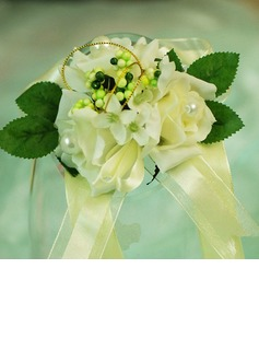 Pretty Free-Form Satin/Cotton Wrist Corsage/Pin-on Corsage (124032012)