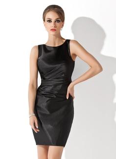 Etui-Linie U-Ausschnitt Kurz/Mini Charmeuse Kleid für die Brautmutter (008013953)