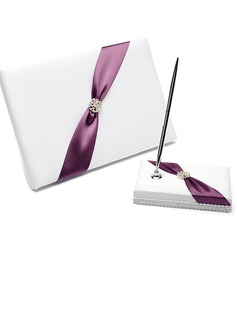 Pretty Rhinestones/Bow Guestbook & Pen Set (101025785)