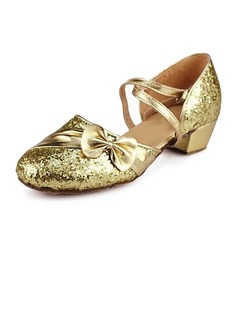 Kids' Sparkling Glitter Sandals Ballroom With Bowknot Dance Shoes (053013159)