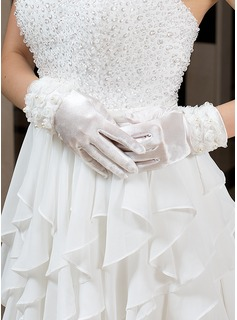Elastic Satin Wrist Length Party/Fashion Gloves/Bridal Gloves (014035889)