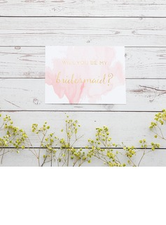 Bridesmaid Gifts - Classic Elegant Paper Wedding Day Card (256176224)