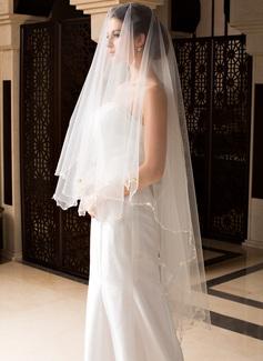 1 couche Voiles de mariée valse avec Liseret (006036663)