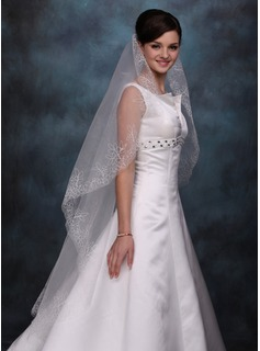 One-tier Waltz Bridal Veils With Cut Edge (006020352)