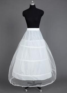 Women Nylon/Tulle Netting Tea-length 1 Tiers Petticoats (037031005)
