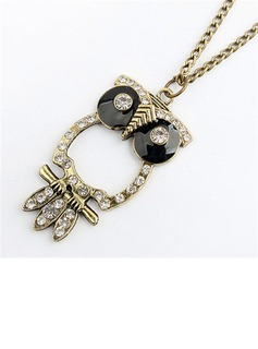 Cute Owl Alloy Women's Fashion Necklace (011034896)