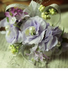 Classic Free-Form Satin/Cotton Wrist Corsage/Pin-on Corsage (124032018)