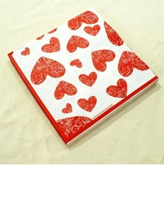 Heart Design Dinner Napkins (Set of 20) (011036236)
