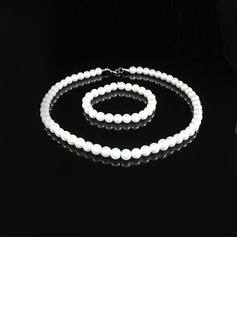 Elegant Pearl Women's Jewelry Sets (011028979)