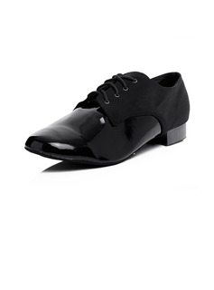 Men's Leatherette Heels Modern With Lace-up Dance Shoes (053056763)