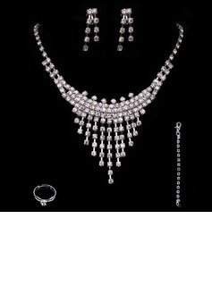Elegant Alloy With Rhinestone Ladies' Jewelry Sets (011005489)