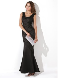 Trumpet/Mermaid Floor-Length Satin Evening Dress With Ruffle (017013724)