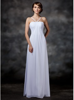 Empire Sweetheart Floor-Length Chiffon Wedding Dress With Ruffle (002011558)