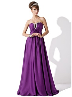 Cheap Evening Dresses Empire Sweetheart Floor-Length Chiffon Evening Dress With Ruffle Beading (017013795)