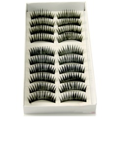 Manual Looking Curved Lashes 1028# - 10 Pairs Per Box (046026696)
