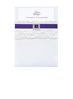 Classic Style Wrap & Pocket Invitation Cards (Set of 10) (118040276)