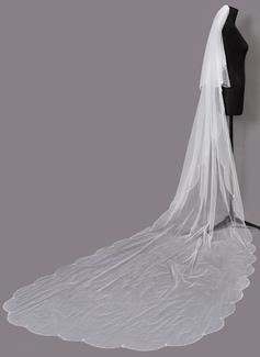 Dos capas Con abalorios Velos de novia capilla con Cuentas (006203721)