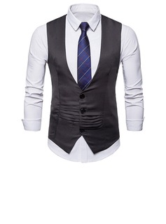 Style Classique Polyester Viscose Gilet Homme (200207902)