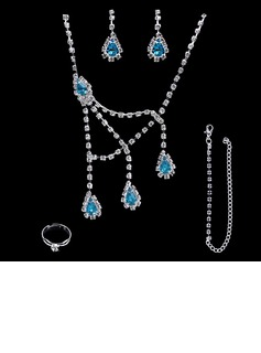 Gorgeous Alloy/Rhinestones Women's Jewelry Sets (011004471)