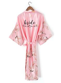 personnalisé charmeuse la mariée Demoiselle d'honneur Maman Demoiselle d'honneur junior Robes Florales Robes Brodées (248199945)