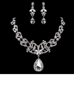 Gorgeous Alloy With Rhinestone Women's Jewelry Sets (011017868)