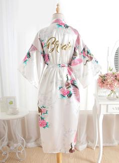 Soie la mariée Demoiselle d'honneur Robes Florales Robe à paillettes (248176110)