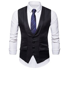 Style Classique Polyester Viscose Gilet Homme (200207901)