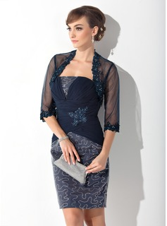 3/4-Length Sleeve Tulle Wrap (013015128)