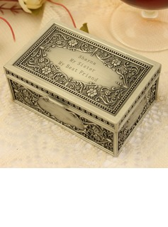 Bridesmaid Gifts - Personalized Classic Alloy Jewelry Box (256170264)
