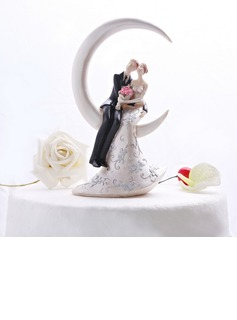 Romantic Moment Resin Wedding Cake Topper (119052095)