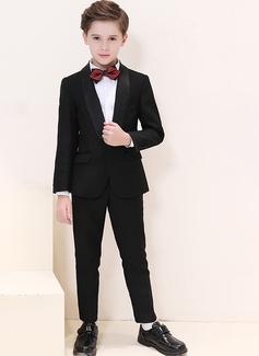 Boys 4 stycken Klassisk Stil Passar till ringbärare /Page Boy Suits med Jacka Skjorta Byxor Fluga (287204953)