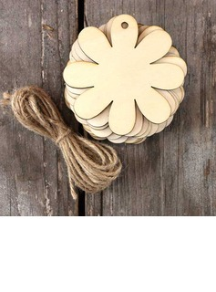 Beautiful/Flower Design Nice/Lovely/Pretty Wooden Wedding Ornaments (set of 10) (131178940)