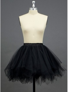 Women Tulle Netting/Polyester Short-length 3 Tiers Petticoats (037033969)