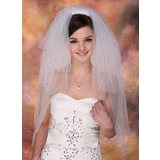 Four-tier Fingertip Bridal Veils With Cut Edge (006005420)