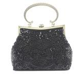 Prächtig Satin mit Perlen verziert/Pailletten Handtaschen/Henkeltaschen (012053173)