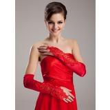 Spandex Kleur Opera Lengte Bruids Handschoenen (014020470)