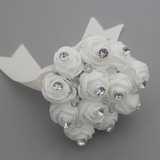 Round Cotton Bridesmaid Bouquets (Sold in a single piece) - (123182142)