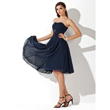 Empire Sweetheart Knee-Length Chiffon Bridesmaid Dress With Ruffle Beading (007020708)