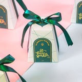 Sweet Love Cubic Card Paper Favor Boxes With Ribbons (Set of 30) (050197388)