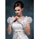Elastische Satin Wrist Lengte Party/Mode Handschoenen/Bruids Handschoenen (014020497)