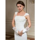 Elastische Satin Handgelenk Länge Party/Weise Handschuhe/Braut Handschuhe (014024480)