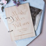 Personalized design Wood Guestbook (101188094)
