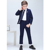 Boys 5 Pieces Elegant Ring Bearer Suits /Page Boy Suits With Jacket Shirt Pants Tie Boutonniere (287202886)