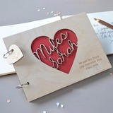 Personalized design Wood Guestbook (101188095)