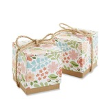 Leende Blomma Cubic Favör Boxas (Set om 12) (050054562)